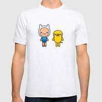 #48 Jake and Finn Mens Fitted Tee Ash Grey SMALL