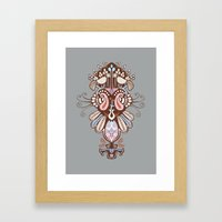 Harmony Grey Framed Art Print