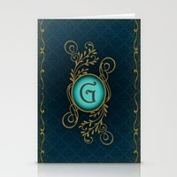Letter G Stationery Cards