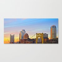 Sunset From The Southsid… Canvas Print