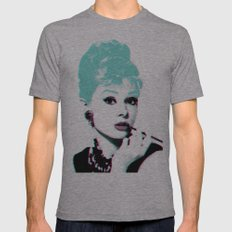AUDREY HEPBURN Mens Fitted Tee Athletic Grey SMALL