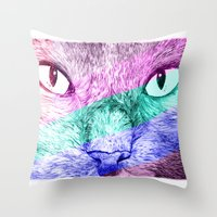 Gary Colours Throw Pillow