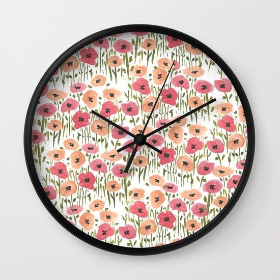 Garden Print Wall Clock