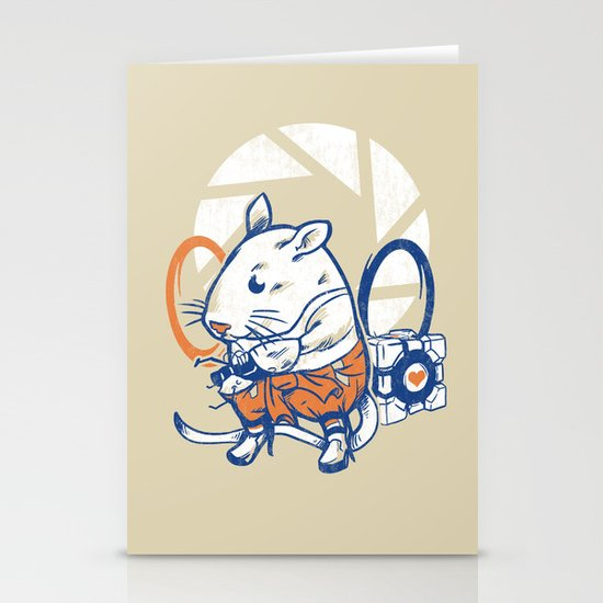 Rat Subject Stationery Card