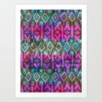 Amelie {Pattern 6B} Art Print