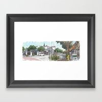 Second Street, Davis Framed Art Print
