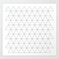 Triangle Tessallation Art Print
