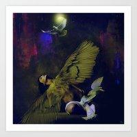 The revelation of the angel Art Print