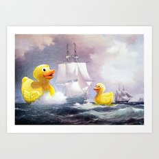 Terror on the High Seas II Art Print