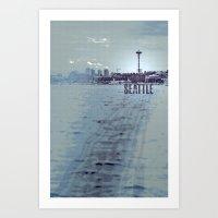 Seattle Blues Art Print