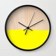 Wall Clock featuring Sorbet V by Galaxy Eyes