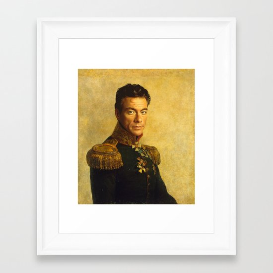 Jean Claude Van Damme - replaceface Framed Art Print