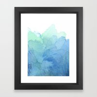 Abstract Watercolor Texture Blue Green Framed Art Print