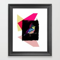Neon Bird Framed Art Print