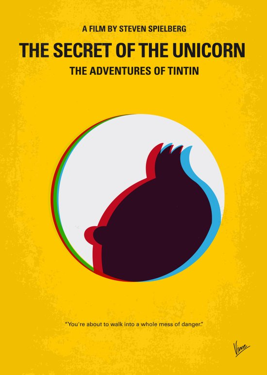 No096 My TINTIN-3D minimal movie poster Canvas Print