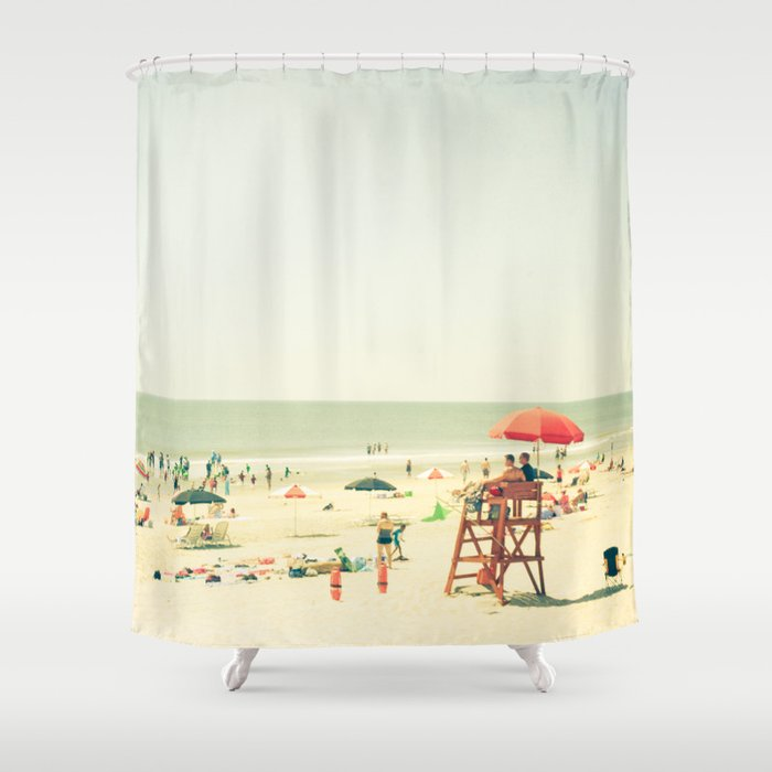 day at the beach shower curtain by olivia joy stclaire