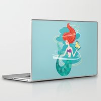 the little mermaid Laptop & iPad Skins featuring Little Mermaid by LindseyCowley