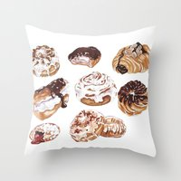 Donuts Throw Pillow