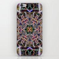 Abstract textured mandala iPhone & iPod Skin