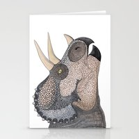 Triceratops Stationery Cards