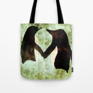 Tote Bag featuring Penguins by James Peart