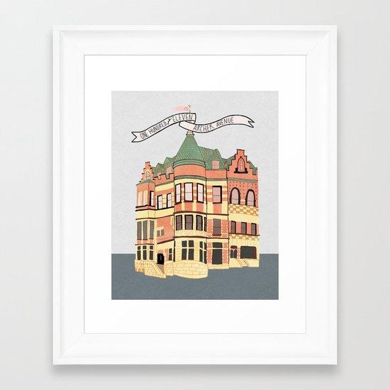 Archer Avenue Framed Art Print