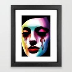 Glitter Tears Framed Art Print