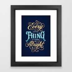 Every Little Thing... Framed Art Print