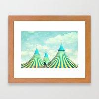 circus tent 2 Framed Art Print