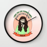 Jessica Day / New Girl Print Wall Clock