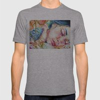 Golden Dreams Mens Fitted Tee Athletic Grey SMALL