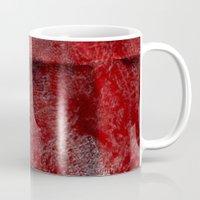 red watercolor Mug