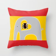 Throw Pillow featuring Spanish Elephant 2 by Elephant Love