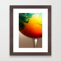 A Glass Of Colour Framed Art Print