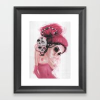 Red Coloured Dreams Framed Art Print