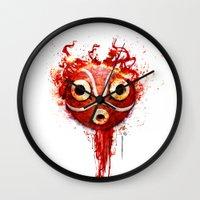 Princess Mononoke Mask  Wall Clock