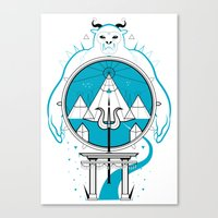 A Legend of Snow Canvas Print