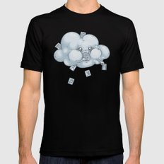 Cloud Storage Mens Fitted Tee Black SMALL