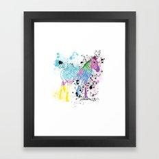 Georgy's Zebra Framed Art Print