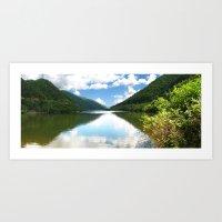 Cibin Lake, the Carpathians (Romania) Art Print