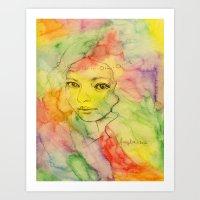 Rainbow romance Art Print
