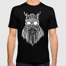 Viking Cat Black Mens Fitted Tee SMALL
