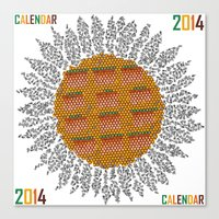 Calendar 2014 - Sunflower Canvas Print