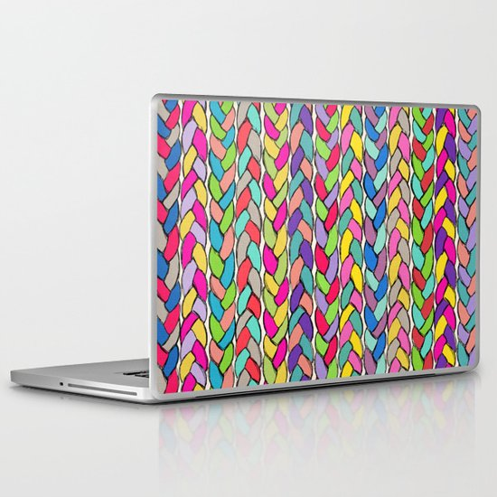 Rainbow Braids Laptop & iPad Skin