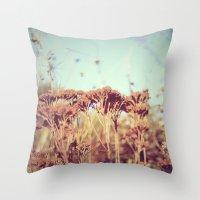plants - Retro  Throw Pillow