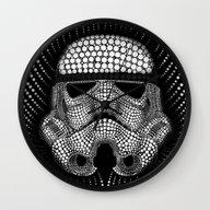 Trooper Star Circle Wars Wall Clock