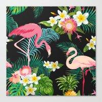 Flamingo Dance Canvas Print