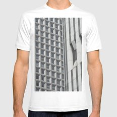 Concrete Jungle Mens Fitted Tee SMALL White