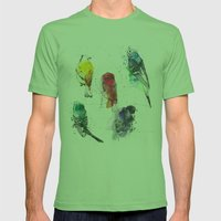 Palette Birds Mens Fitted Tee Grass SMALL