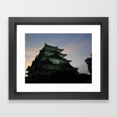 Japanese Castle at Sunset Framed Art Print